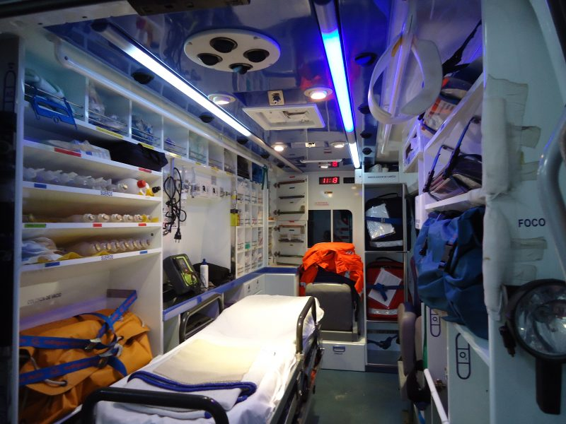 Soporte vital básico ambulancia